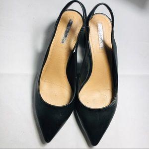 TAHARI Roseann Black Sling Back Shoes Size 7.5
